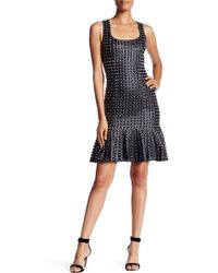 Pamella Pamella Roland - Allover Beaded Grid Party Dress - Lyst