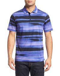 Bugatchi - Bugachi Wave Print Cotton Polo Shirt - Lyst
