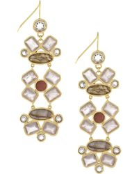 Cole Haan - Semi-precious Stone Statement Earrings - Lyst