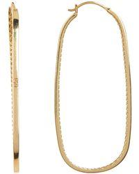 Cole Haan - Oval Hoop Drop Earrings - Lyst