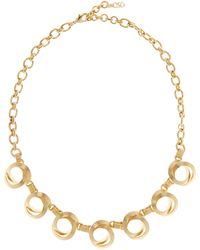 Cole Haan - 12k Gold Plated Textured Loop Linked Chain Necklace - Lyst