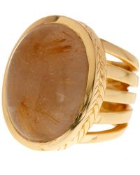 Cole Haan - Large Sandy Quartz Oval Ring - Size 7 - Lyst