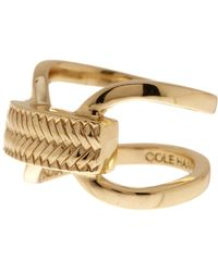 Cole Haan - 12k Gold Plated Looped Band Basket Etched Ring - Size 7 - Lyst