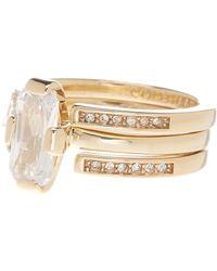 Cole Haan - Cz Embellished Ring Set - Size 7 - Lyst