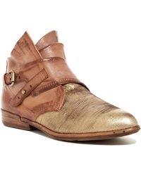 A.s.98 - Chad Contrast Toe Ankle Bootie - Lyst