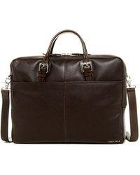 Cole Haan - Pebble Leather Zip Top Briefcase - Lyst