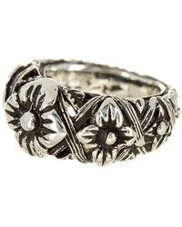 Stephen Dweck - Sterling Silver Flower Engraved Ring - Lyst