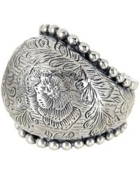 Stephen Dweck - Sterling Silver Engraved Dome Ring - Lyst