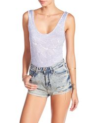 Clayton | Brandi Sleeveless Bodysuit | Lyst