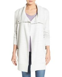 Caslon - (r) Convertible Collar Jumper Coat - Lyst