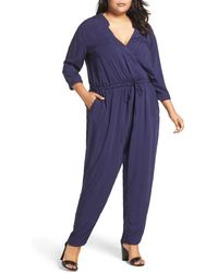 Caslon - (r) Surplice Jumpsuit (plus Size) - Lyst