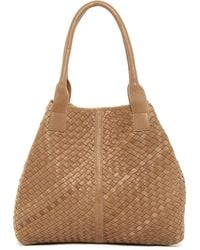 Cut N' Paste - Knight Woven Leather Tote - Lyst