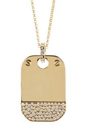 CC SKYE - Pave Brooke Dog Tag Necklace - Lyst