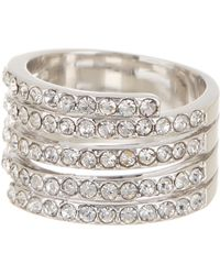 Ariella Collection - 14k White Gold Plated Coil Ring - Lyst