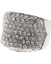 Ariella Collection - Bold Pave Crystal Ring - Lyst