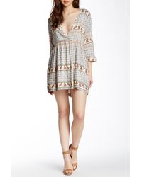4si3nna - Deep V Babydoll Dress (juniors) - Lyst