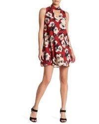 Peach Love California - Printed Shift Dress - Lyst