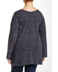 Everleigh - Roll Sleeve Textured Sharkbite Sweater (plus Size) - Lyst