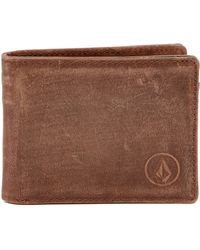 Volcom - Prime Leather Wallet - Lyst