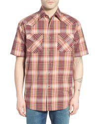 Pendleton | 'frontier' Regular Fit Short Sleeve Plaid Western Shirt | Lyst