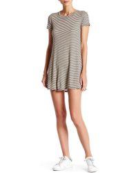Blu Pepper - Short Sleeve Striped Dress - Lyst