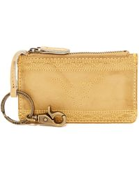Frye - Campus Stitch Leather Card Wallet - Lyst