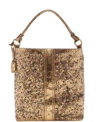 Frye - Deborah Leather Studded Shoulder Bag - Lyst