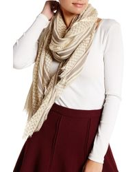 Roffe Accessories - Two-tone Graphic Scarf - Lyst