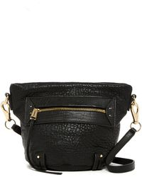 She + Lo - Rise Above Zip Leather Crossbody Bucket Bag - Lyst