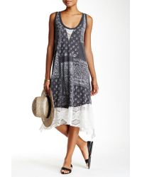 Scrapbook - Printed Lace Trim Tank Dress - Lyst