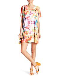Sienna Rose - Printed Matte Jersey Dress - Lyst