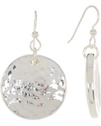 Simon Sebbag - Sterling Silver Round Textured Disc Drop Earrings - Lyst