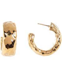 Simon Sebbag - 24k Gold Plated Half Hoop Earrings - Lyst
