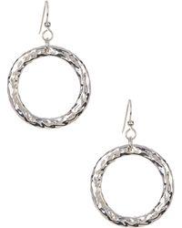 Simon Sebbag - Sterling Silver Hammered Ring Earrings - Lyst