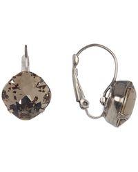 Sorrelli - Round Swarovski Crystal Accented Drop Earrings - Lyst