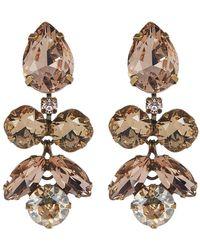 Sorrelli - Crystal Lotus Flower Earrings - Lyst