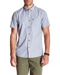 Quiksilver - Wilsden Short Sleeve Regular Fit Shirt - Lyst