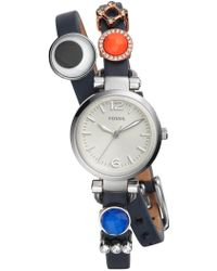 Fossil - Women's Georgia Three-hand Quartz Watch & Charm Box Set - Lyst