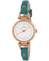 Fossil - Women's Georgia Leather Watch - Lyst