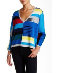 Plenty by Tracy Reese - Colorblock Pullover Sweater - Lyst