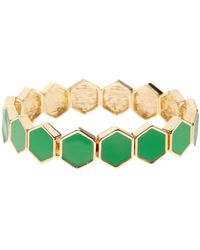 French Connection - Hexagon Stretch Bracelet - Lyst