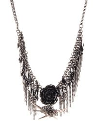 French Connection - Shaky Frontal Chain Fringe Necklace - Lyst
