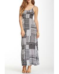 Fraiche By J - Printed Keyhole Maxi Dress - Lyst