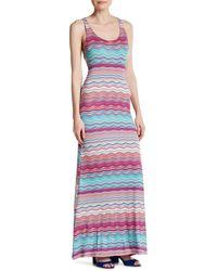Fraiche By J - Print Racerback Maxi Dress - Lyst