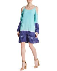 Fraiche By J - Dip Dye Cold Shoulder Dress - Lyst