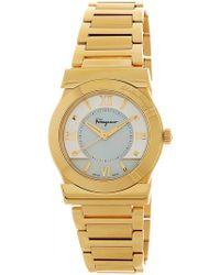 Ferragamo - Women's Vega Mother Of Pearl Dial Bracelet Watch - Lyst