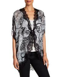 Dress Forum - Lace Trim Kimono - Lyst