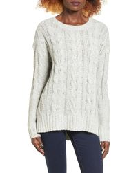 Love By Design - Marled Cable Knit Pullover - Lyst
