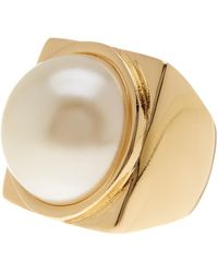 French Connection - Imitation Pearl Ring - Lyst