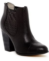 Me Too - Frankee Perforated Ankle Boot - Lyst